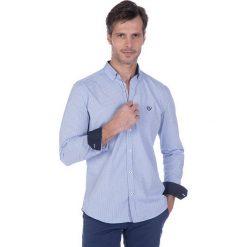 """Koszule męskie na spinki: Koszula """"Footwork"""" w kolorze błękitnym"""