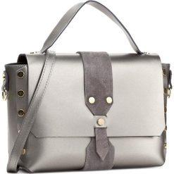 Torebka CREOLE - K10426 Srebrny. Szare torebki klasyczne damskie Creole, ze skóry. W wyprzedaży za 229,00 zł.