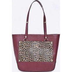 Cavalli Class - Torebka. Szare torebki klasyczne damskie marki Cavalli Class, w paski, z materiału, duże. W wyprzedaży za 329,90 zł.