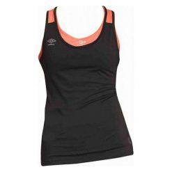 Umbro Koszulka Tank Top Womens Black/Fiery Coral Xs. Niebieskie bluzki sportowe damskie marki DOMYOS, xs, z bawełny. W wyprzedaży za 39,00 zł.