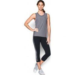 Under Armour Spodnie Fav Capri - Gra Blk White M. Białe bryczesy damskie Under Armour, s, na fitness i siłownię. W wyprzedaży za 139,00 zł.