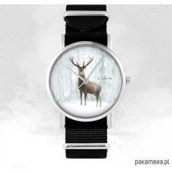 Zegarek - Jeleń 3 - czarny, nato, unisex. Czarne zegarki męskie Pakamera. Za 129,00 zł.
