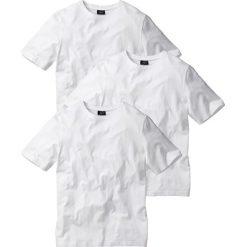 T-shirty męskie: T-shirt (3 szt.) Regular Fit bonprix biały + biały + biały