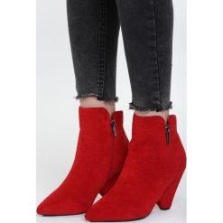 Czerwone Botki Love Of My Life. Białe botki damskie na zamek marki Reserved, na wysokim obcasie. Za 119,99 zł.