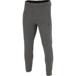 Joggery męskie: Spodnie dresowe męskie SPMD001 - ciemny szary melanż