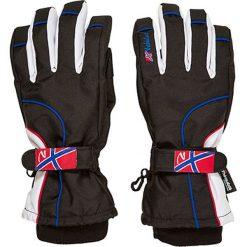 Rękawiczki damskie: Rękawiczki narciarskie w kolorze czarno-białym