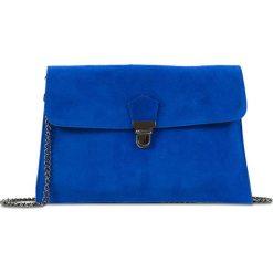 """Puzderka: Skórzana kopertówka """"Sidney"""" w kolorze niebieskim – 27 x 18 x 1 cm"""