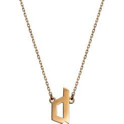 Naszyjniki damskie: Pozłacany naszyjnik – (D)40 cm