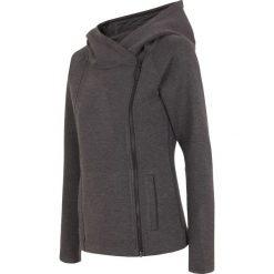 Bluzy rozpinane damskie: Bluza damska BLD005 - ciemny szary melanż