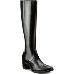 Kozaki GINO ROSSI - Tesa DKH696-G50-E100-9900-F 99. Czarne buty zimowe damskie marki Gino Rossi, z materiału, na obcasie. W wyprzedaży za 399,00 zł.