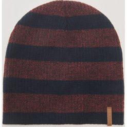 Czapka w paski - Bordowy. Czerwone czapki zimowe męskie marki House, w paski. Za 29,99 zł.