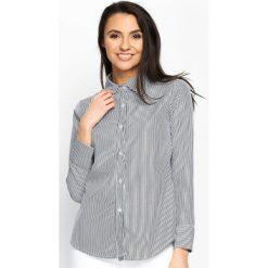 Czarna Koszula Upright. Czarne koszule wiązane damskie Born2be, s, w paski. Za 54,99 zł.