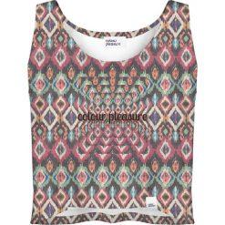 Colour Pleasure Koszulka damska CP-035 263 grafitowo- różowa r. XXXL-XXXXL. Fioletowe bralety marki Colour pleasure, uniwersalny. Za 64,14 zł.