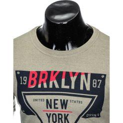 T-shirty męskie z nadrukiem: T-SHIRT MĘSKI Z NADRUKIEM S939 – ZIELONY