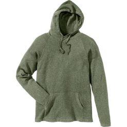 Swetry męskie: Sweter z kapturem Regular Fit bonprix oliwkowy