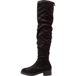 New Look CHRISTOF Muszkieterki black. Czarne buty zimowe damskie marki New Look, z materiału, na obcasie. W wyprzedaży za 161,40 zł.