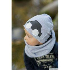 Komplet Car czapka + komin. Szare czapeczki niemowlęce Pakamera, z dzianiny. Za 65,00 zł.