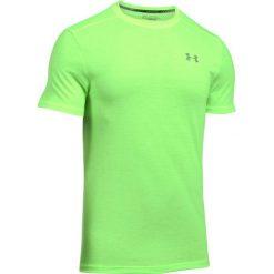 Under Armour Koszulka męska Threadborne Streaker SS zielona r. M (1271823-752). Szare koszulki sportowe męskie marki Under Armour, l, z dzianiny, z kapturem. Za 99,00 zł.