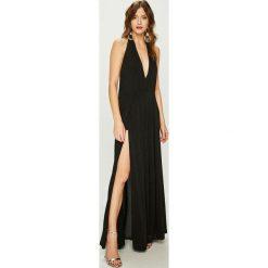 Answear - Sukienka Night Fever. Szare długie sukienki ANSWEAR, m, z dzianiny, eleganckie, proste. Za 229,90 zł.