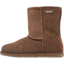 EMU Australia BRUMBY  Śniegowce oak. Czarne buty zimowe damskie marki Superfit, z gore-texu, przed kolano, na wysokim obcasie. Za 399,00 zł.