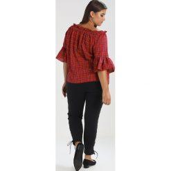 New Look Curves LACE UP SIDE  Jeans Skinny Fit black. Czarne jeansy damskie New Look Curves, z bawełny. W wyprzedaży za 146,30 zł.