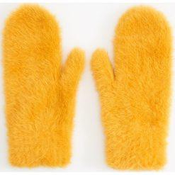 Rękawiczki z jednym palcem - Żółty. Brązowe rękawiczki damskie marki Roeckl. Za 39,99 zł.