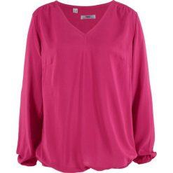 Bluzka z długim rękawem bonprix jeżynowy. Fioletowe bluzki asymetryczne bonprix, z długim rękawem. Za 74,99 zł.
