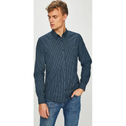 Medicine - Koszula Basic. Szare koszule męskie na spinki MEDICINE, l, z bawełny, z klasycznym kołnierzykiem, z długim rękawem. Za 99,90 zł.