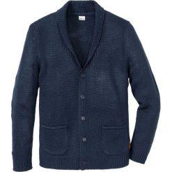 Sweter rozpinany Regular Fit bonprix ciemnoniebieski. Niebieskie kardigany męskie marki bonprix, l. Za 89,99 zł.