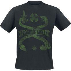 Koszulki męskie: Flogging Molly Vintage Snake Tourshirt 2018 T-Shirt czarny