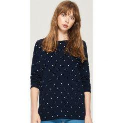 Dzianinowy sweter - Niebieski. Niebieskie swetry klasyczne damskie Sinsay, l, z dzianiny. Za 49,99 zł.