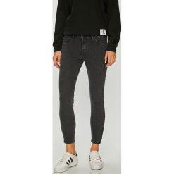 Lee - Jeansy. Szare jeansy damskie rurki marki Lee, z bawełny. Za 299,90 zł.