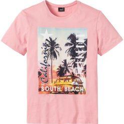 T-shirty męskie: T-shirt z fotodrukiem Regular Fit bonprix jasnoróżowy