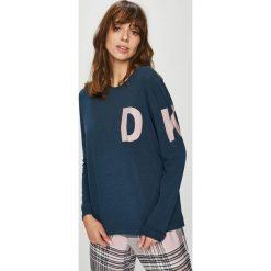 Dkny - Bluzka piżamowa. Szare koszule nocne i halki DKNY, l, z nadrukiem, z bawełny, z długim rękawem. W wyprzedaży za 199,90 zł.