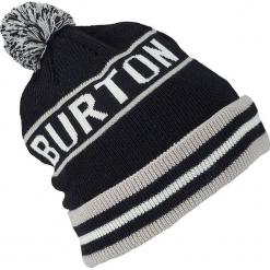 """Czapka """"Trope"""" w kolorze czarno-białym. Czarne czapki zimowe męskie Burton, z materiału. W wyprzedaży za 56,95 zł."""