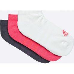 Adidas Performance - Skarpetki (3-pack). Szare skarpetki damskie adidas Performance, z bawełny. W wyprzedaży za 29,90 zł.