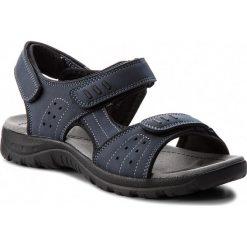 Sandały LANETTI - MS17008-1 Granatowy. Niebieskie sandały męskie skórzane marki Lanetti. Za 79,99 zł.