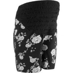 Elastyczne szorty ciążowe bonprix czarny w kwiaty. Niebieskie spodnie ciążowe marki bonprix, w paski, z dżerseju. Za 74,99 zł.