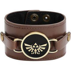 The Legend Of Zelda Double Sided Charm Wristband Bransoletka z ekoskóry brązowy. Brązowe bransoletki damskie na nogę The Legend Of Zelda. Za 62,90 zł.