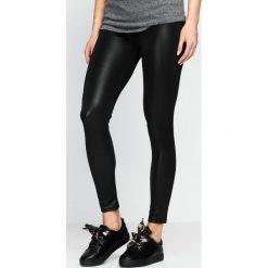 Spodnie damskie: Czarne Legginsy Black Ink
