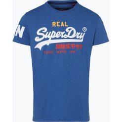 Superdry - T-shirt męski, niebieski. Niebieskie t-shirty męskie z nadrukiem Superdry, l, z dżerseju. Za 99,95 zł.