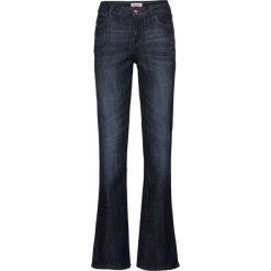 Dżinsy ze stretchem BOOTCUT bonprix ciemnoniebieski. Niebieskie jeansy damskie bootcut bonprix. Za 74,99 zł.