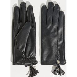 Akcesoria: Rękawiczki z pluszową podszewką - Czarny