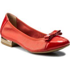 Baleriny CAPRICE - 9-22108-20 Red Pearl Comb 514. Czerwone baleriny damskie Caprice, z materiału, na płaskiej podeszwie. W wyprzedaży za 179,00 zł.