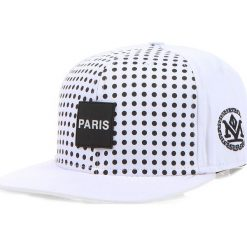 Czapka męska snapback biała (hx0181). Białe czapki męskie Dstreet, z aplikacjami, eleganckie. Za 69,99 zł.