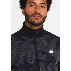 GStar RODIS CAMO ZIP SW L/S Bluza rozpinana dark black/night. Czarne bluzy męskie rozpinane marki G-Star, l, z bawełny. Za 419,00 zł.