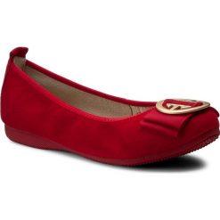 Baleriny LA BALLERINA - 20010-188 Cam Rosso. Czerwone baleriny damskie zamszowe marki La Ballerina. W wyprzedaży za 269,00 zł.