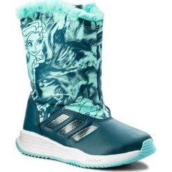 Kozaki dziewczęce: Śniegowce adidas – Dy Frozen RapidaSnow C S81067 Petnit/Eneaqu/Ftwwht