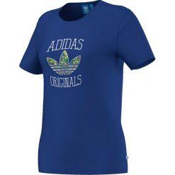 Adidas Koszulka damska Slim Tee Gra granatowa r. 34 (M69988). Niebieskie topy sportowe damskie Adidas, m. Za 48,38 zł.
