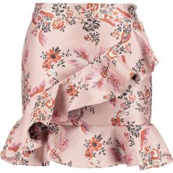Minispódniczki: Endless Rose ASYMMETRICAL RUFFLE Spódnica mini dusty rose brocade